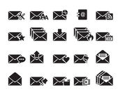E-posta simgeler vektör — Stok Vektör