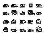 Vettoriale icone e-mail — Vettoriale Stock