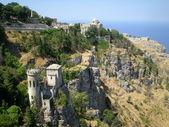 Balio castle towers in Erice, Sicily — Stock Photo