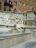 Fonte Gaia (Fountain of Joy)in Siena. Italy, Europe — Stock Photo