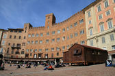View of gothic city of Siena, Italy — Stock Photo