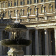 Bernini Fountain on the Saint Peters Square Rome, Italy — Stock Photo