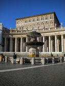 Bernini Fountain on the Saint Peters Square Rome, Italy — Stock Photo