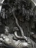 Quattro fontane - quatro fontes no distrito de trevi, em roma, itália — Foto Stock