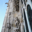 Milan gothic cathedral at the piazza del duomo — Stock Photo