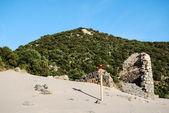 A baía e caletta praia de cala domestica na área de sulcis da sardenha, itália — Foto Stock