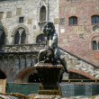 Prato (Tuscany, Italy), ancient fountain in Piazza del Comune — Stock Photo #30954701