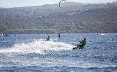 Kite boarding — Foto Stock