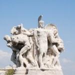 Sculpture at Vittorio Emanuele II Bridge, Rome, Italy — Stock Photo #45148225