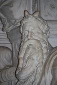 Statue of Moses, Michelangelo, San Pietro in Vincoli, Rome, Italy — Stock Photo