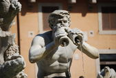 Fontana del Moro in Piazza Navona. Rome, Italy — Stock Photo
