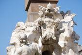 ローマ ナヴォーナ広場イタリア ベルニーニの噴水 — ストック写真