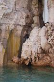 Roma, piazza navona, fonte de bernini na itália — Fotografia Stock