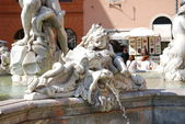 Neptune Fountain in Rome, Italy — Stock Photo