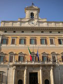 Facade of the Palace of Montecitorio in Rome in Italy — Stock Photo