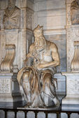 Statue of Moses, Michelangelo, San Pietro in Vincoli, Rome, Italy — Stock Photo