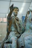The original bronze statue of Emperor Marcus Aurelius — Foto de Stock