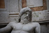 Statue of Neptune at fountain, Rome, Italy — Stockfoto