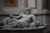 Statue of Neptune at fountain, Rome, Italy — Foto de Stock