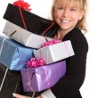 Stock Photo: Here comes gifts!