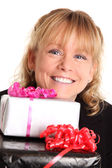 Female with presents — Stock Photo