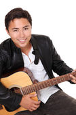 Young singer-songwriter — Stockfoto