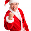 Screaming santa! — Stock Photo