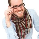 轻松拿眼镜的年轻男子 — 图库照片 #26691047