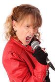 Screaming rocker chic — Stock Photo