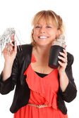 Cute party woman — Stock Photo