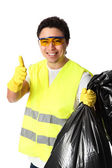 Thumbs up for recycling! — Stock Photo