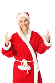 Santa having a good time — Foto de Stock