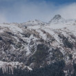 Winter snow mountain landscape — Stock Photo
