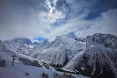 Winter snow mountain landscape — Stock Photo