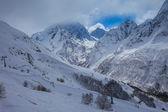 Vinter snö bergslandskap — Stockfoto