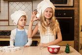 Children cooking — Stock Photo