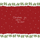 Christmas joy warms the heart — Stock Vector