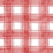 Red watercolor plaid — Stock Photo