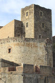 Tower and rampart - Royal's castle of Collioure - France — Stock Photo
