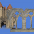 Middle ages architecture — Stock Photo