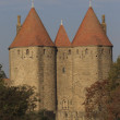 Small castle - medieval city of Carcassonne, Aude - France — Stock Photo