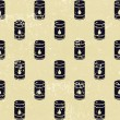 Seamless oil barrels pattern - Stock Photo