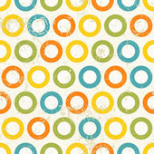 Barevné kruhy vzor bezešvé vinobraní. — Stock fotografie