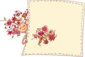 Flower girl — Stock Vector