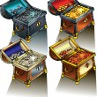 Stockvektor : Treasure Chest
