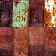 Rusty metal plates — Stock Photo
