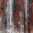 Red brown painted aged wood planks — Stock Photo