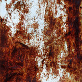 White painted rusty metal — Stock Photo