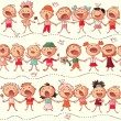 Happy chorus — Stock Vector #27575533