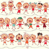 Happy chorus — Stock Vector